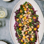 Chicken Cabbage Salad with Basil and Kumquats