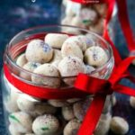 Meltaway cookies in jars for Christmas gift