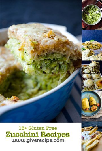15+ Gluten Free Zucchini Recipes that are either naturally gluten-free or adaptable to your diet.
