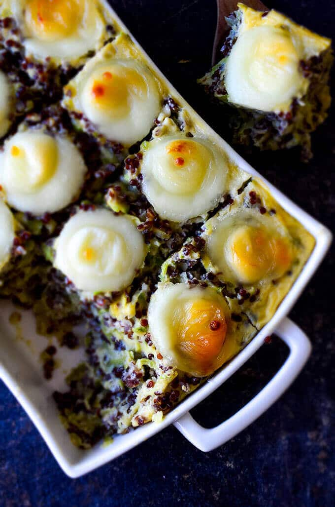 Baked zucchini casserole with quinoa