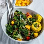 Cold Lentil Salad with Peaches