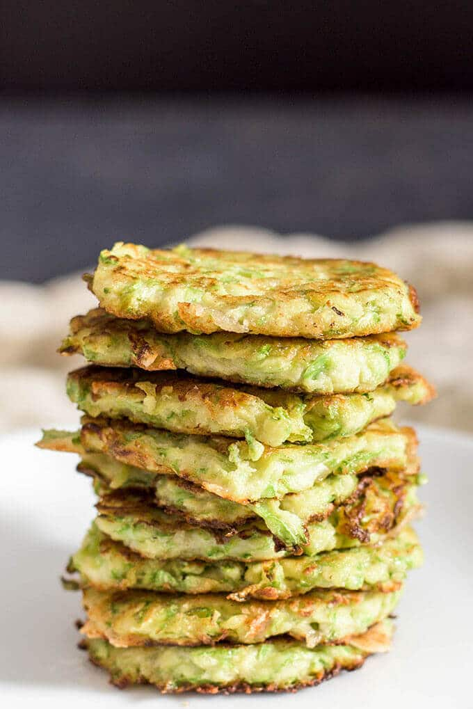 A stack of gluten free zucchini fritters