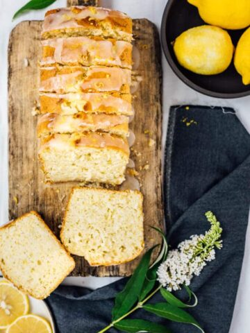 This Glazed Lemon Zucchini Bread recipe is a great way to sneak in zucchini. No different from a good lemon bread. Lemon juice and zest make it wonderfully lemony. Plus, kefir makes it super moist.