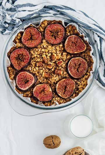 Healthy Baked Oatmeal with Figs