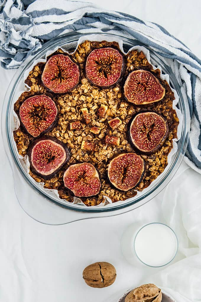 Healthy Baked Oatmeal With Figs Give Recipe