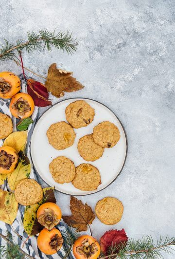 Persimmon Cookies. Spicy, soft, chewy and moist. Perfect on-the-go breakfast too!