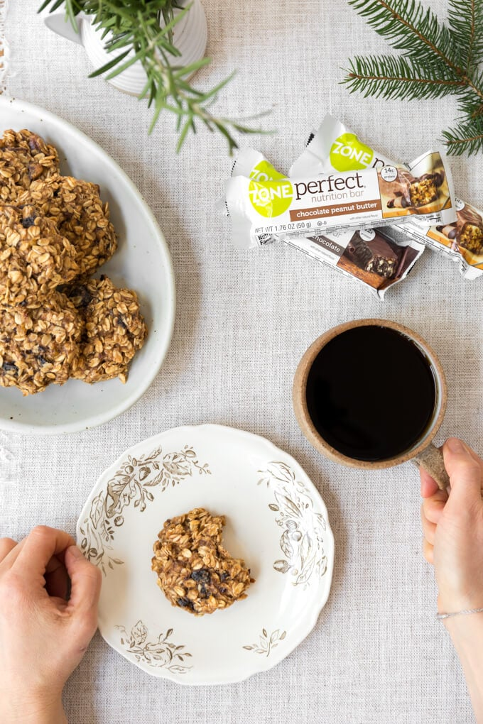 Banana oatmeal breakfast cookies. Quick, healthy, tasty. #sponsored