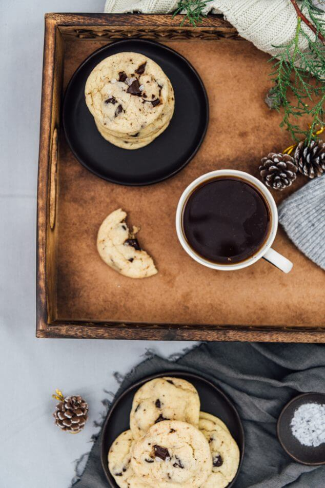 Perfect chocolate chip cookies with olive oil. Wonderfully soft and chewy. No overnight chilling is needed.