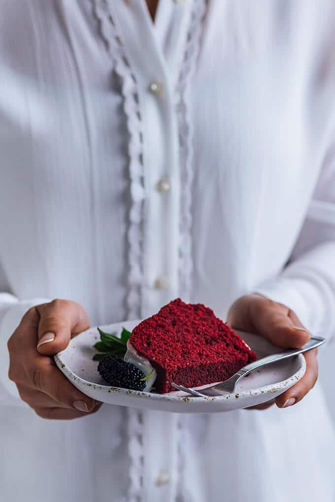 If you want to make something fancy for the special person in your life, but have no baking experience, this Red Velvet Bundt Cake with a silky cream cheese glaze is for you.