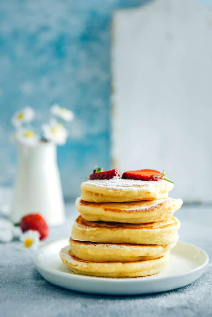 Fluffy Almond Milk Pancakes Give Recipe