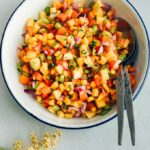 Fresh Corn Peach Salsa