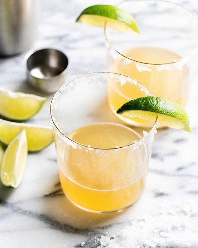 Classic margarita for game day appetizers