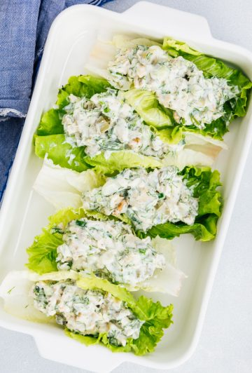Low Carb Chicken Salad Lettuce Wraps