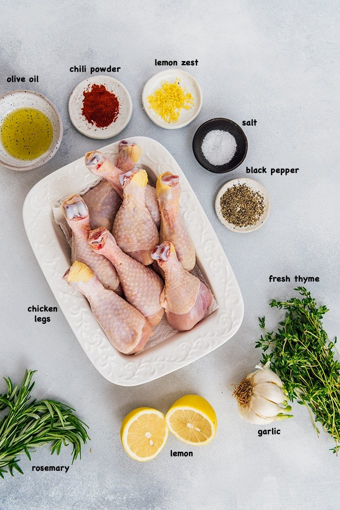 Oven baked chicken legs ingredients