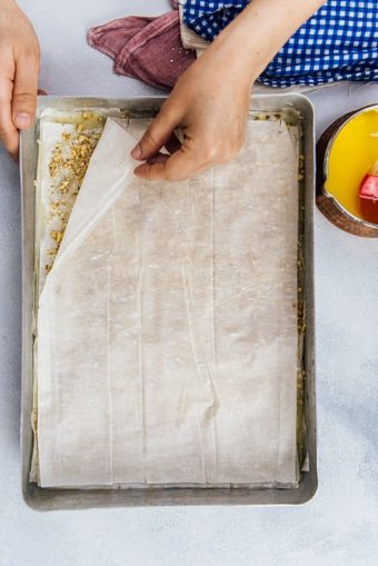 Making easy Turkish baklava recipe