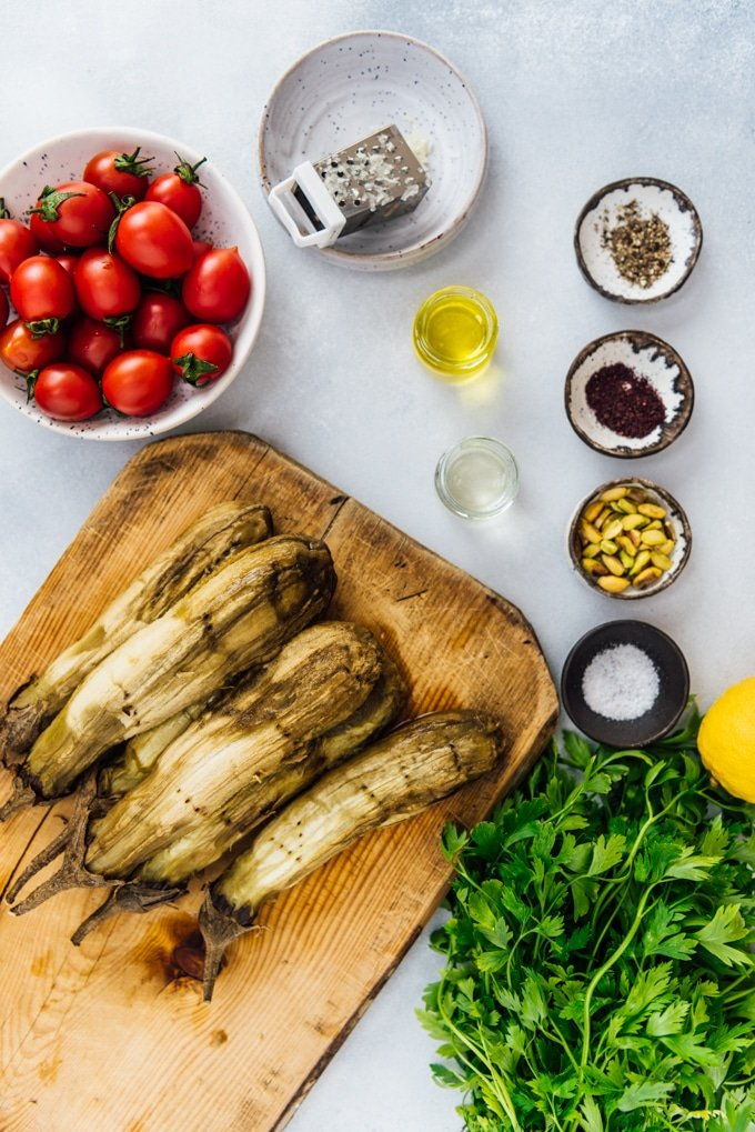 Middle eastern roasted eggplant recipe ingredients