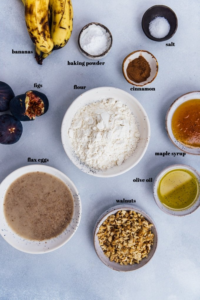 banana fig bread recipe ingredients