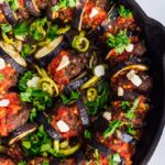 Turkish Baked Eggplant Casserole With Meatballs