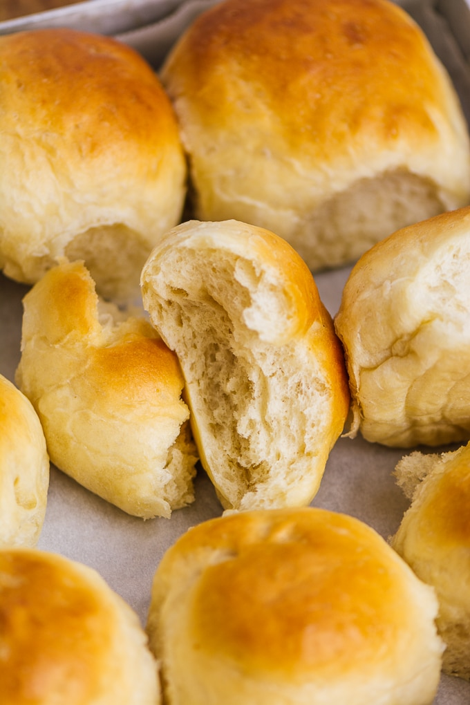 buttery and fluffy yeast rolls
