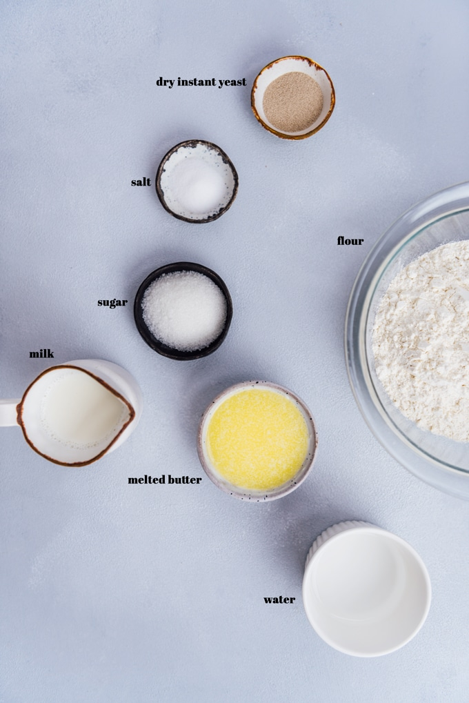 Homemade dinner roll recipe ingredients