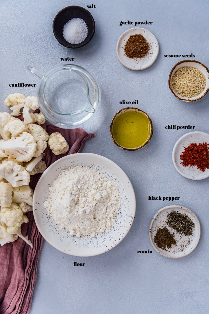 Cauliflower wings recipe ingredients