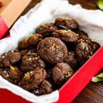 Chocolate Brownie Cookies With Orange Zest